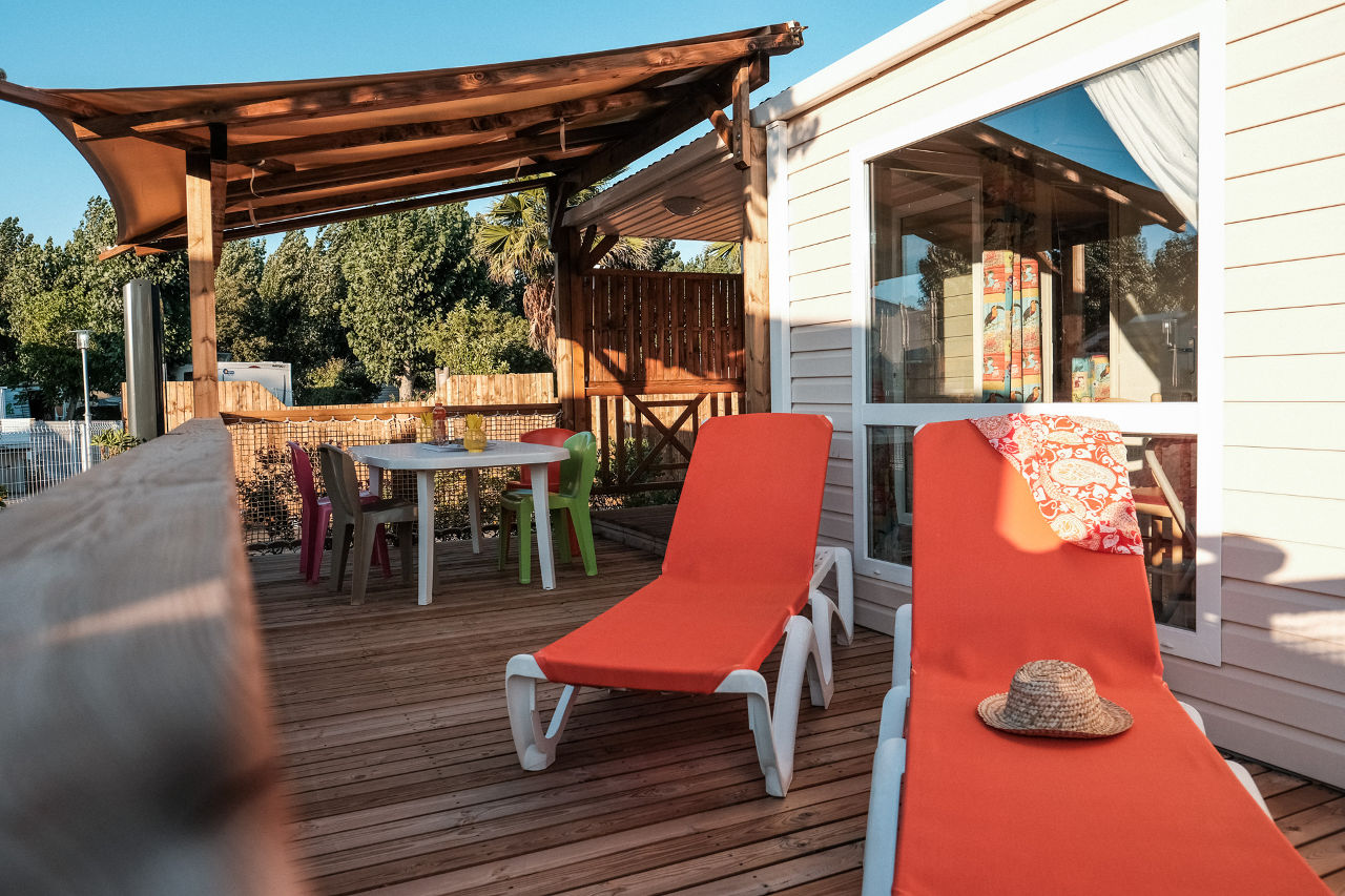 mobil-home garden lodge camping Valras Plage