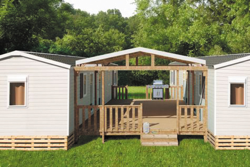 mobil-home Duo 8 camping Valras Plage