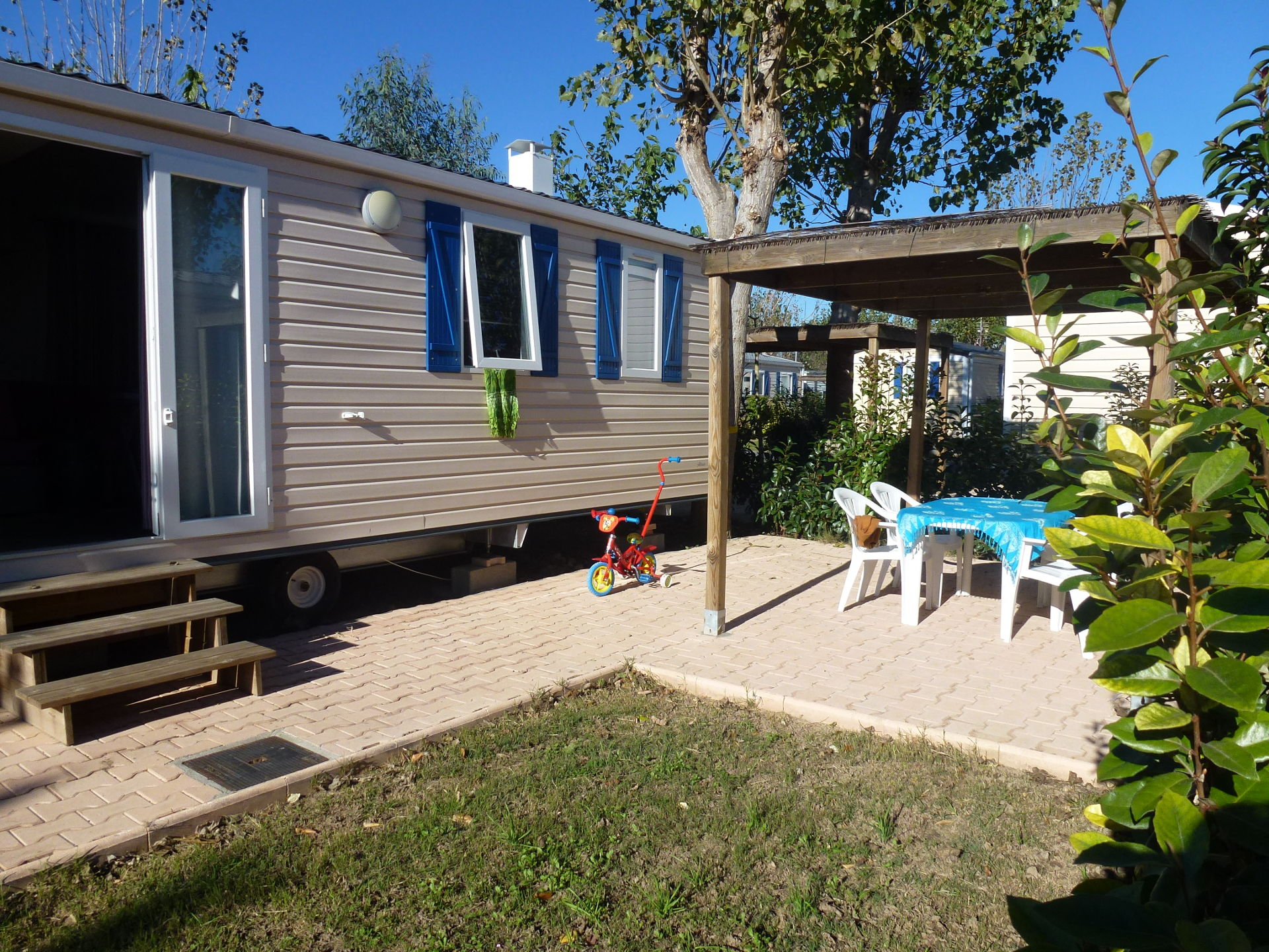 mobil-home family eco camping Valras Plage