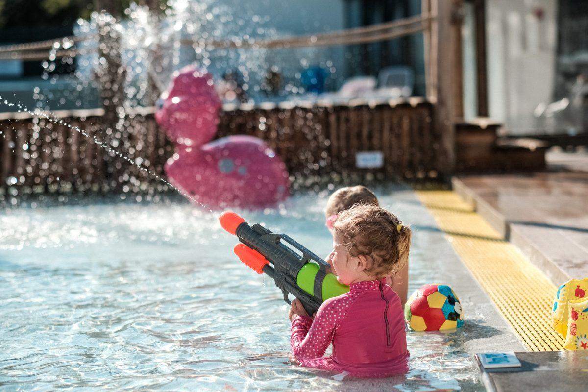 camping jeu aquatique bébé